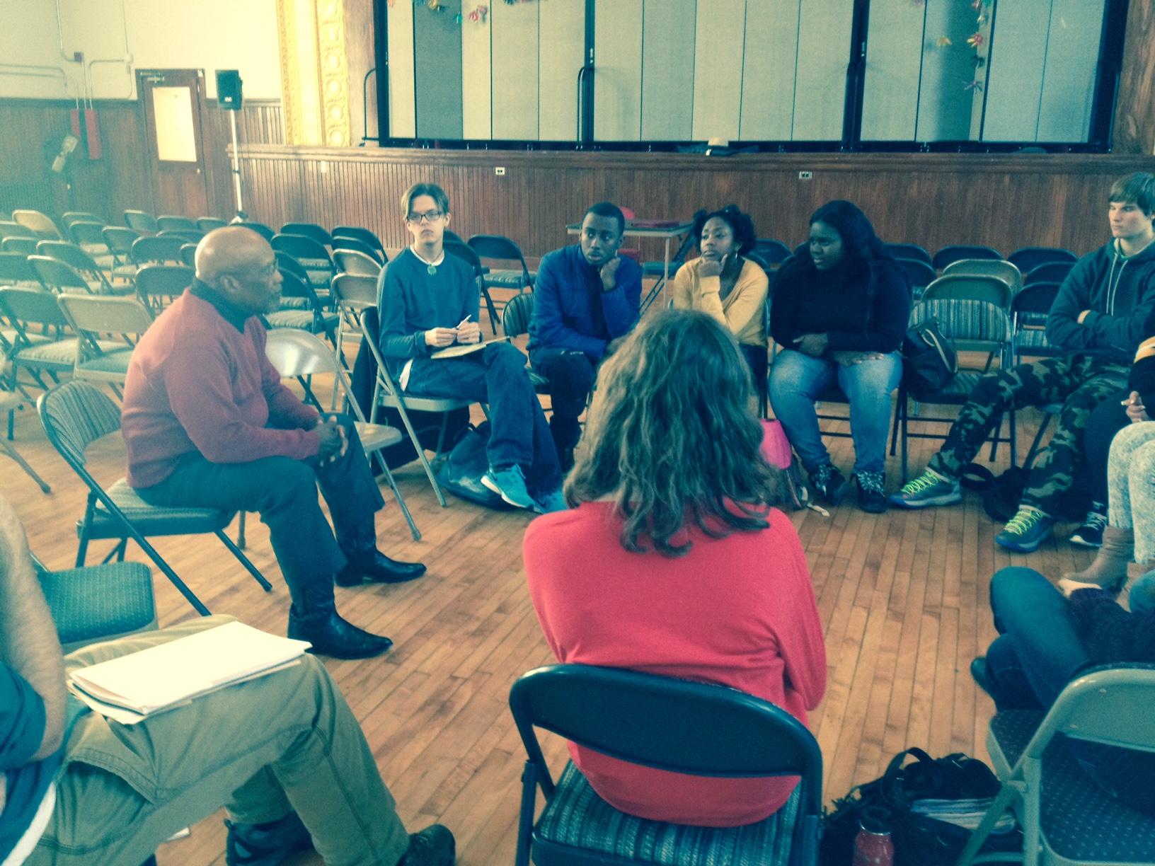 Luvaghn Brown Visits NHA   New Haven Academy
